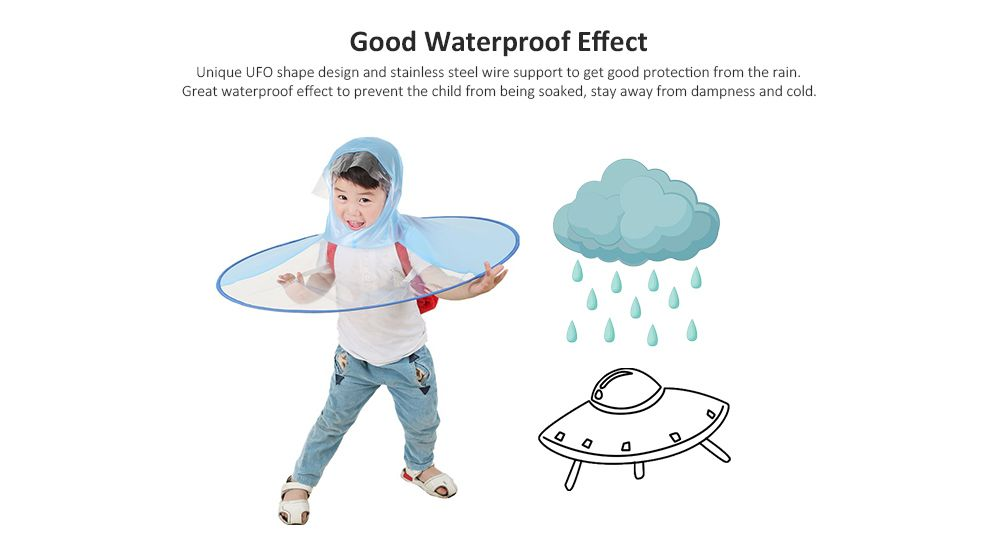 Foldable UFO Umbrella Cap Waterproof Hands Free Rain Hat