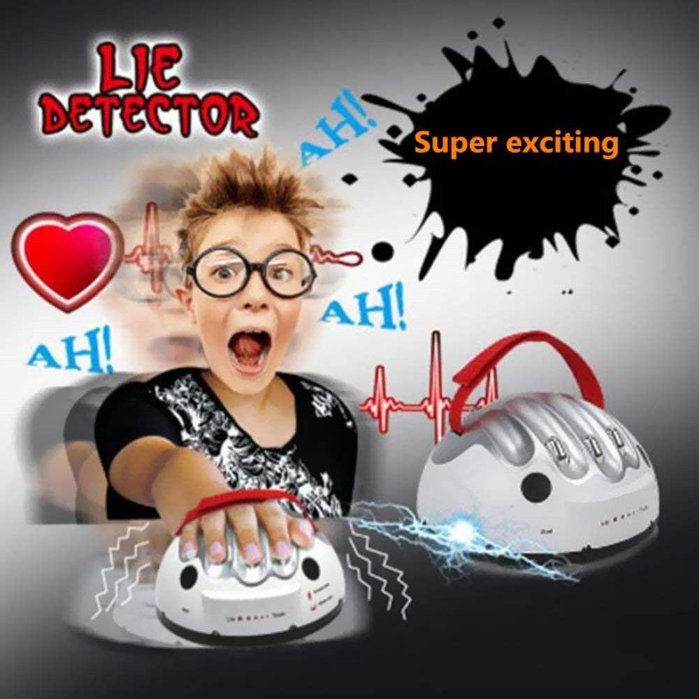 Creative Polygraph Micro Electric Shocking Liar Lie Detector Truth Game Toy