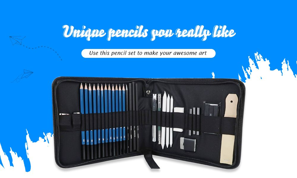 HB Professional Sketching Pencil for Fine Art Drawing 32pcs/Tool Set