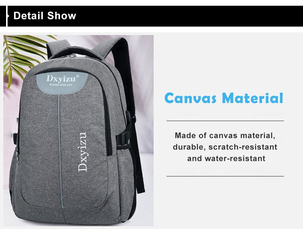 2019 Fashion Durable Canvas Large Capacity Couple Backpack In VIOLA ... 5dbd20d63829c