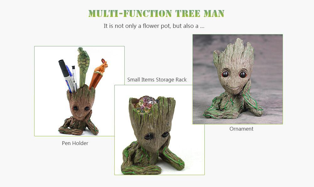 Creative Tree Man Flower Pot Doll Model Desk Ornament Gift Toy