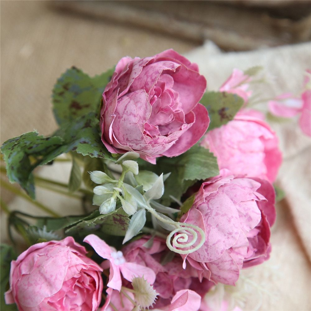 2018 Peony Artificial Flower Bridal Bouquet Home Wedding Decorations