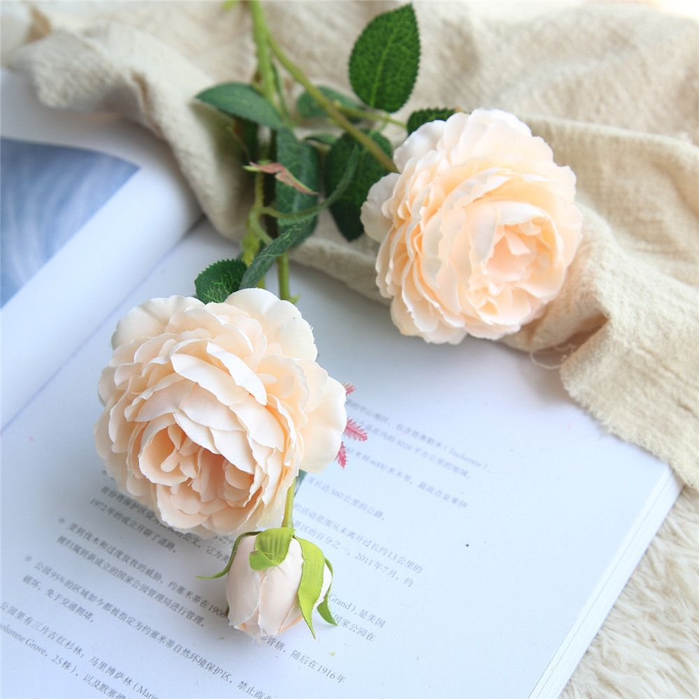 2018 European Style Cabbage Rose Artificial Flower Bridal Bouquet