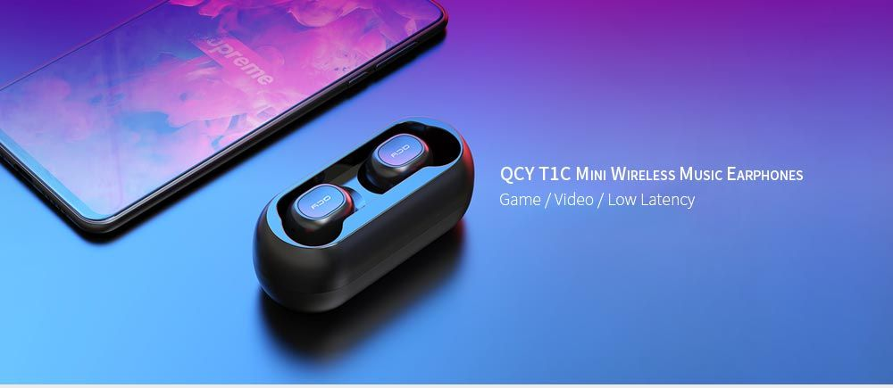QCY T1C Mini Wireless Music Earphones