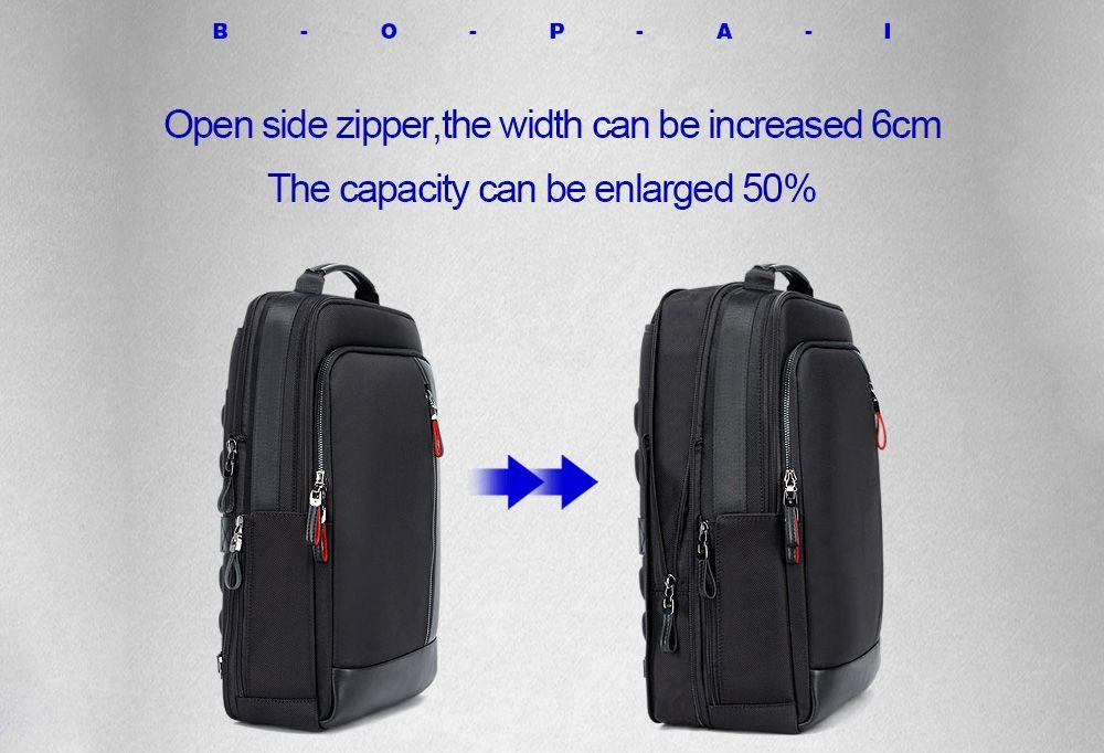 BOPAI 751 - 006641 Men Leisure Anti-theft Large Capacity Waterproof Backpack 13106ee02ec96