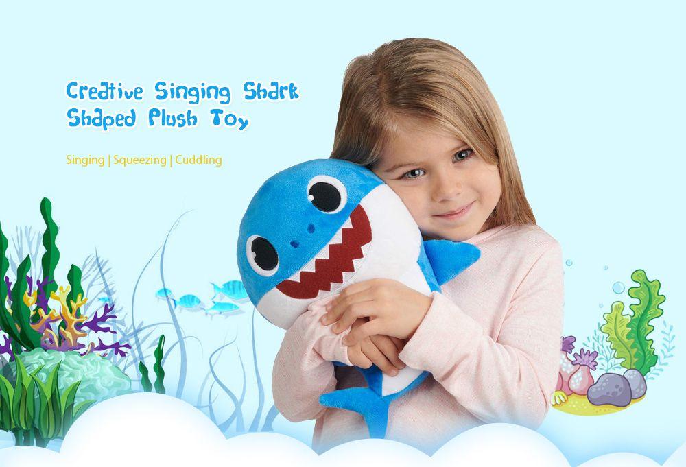 Creative Singing Shark Shaped Plush Toy