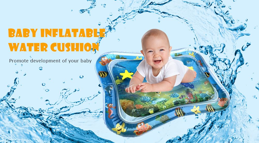Inflatable Tummy Time Premium Water Mat for Infants Toddlers Perfect Play Activity Center Your Baby's Stimulation Growth