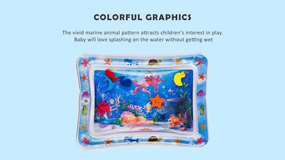 Children's Puzzle Marine Animal Inflatable Crawling Water Cushion