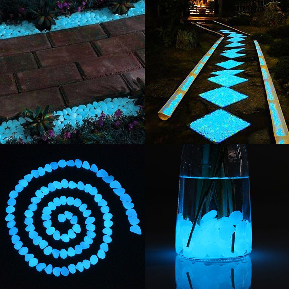 COZZINE Glow in The Dark Pebbles Luminous Cobblestones Set of 100
