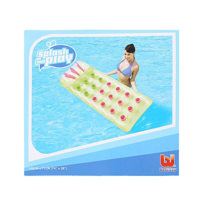 18 Holes Inflatable Floating Row with Pillow Lounge