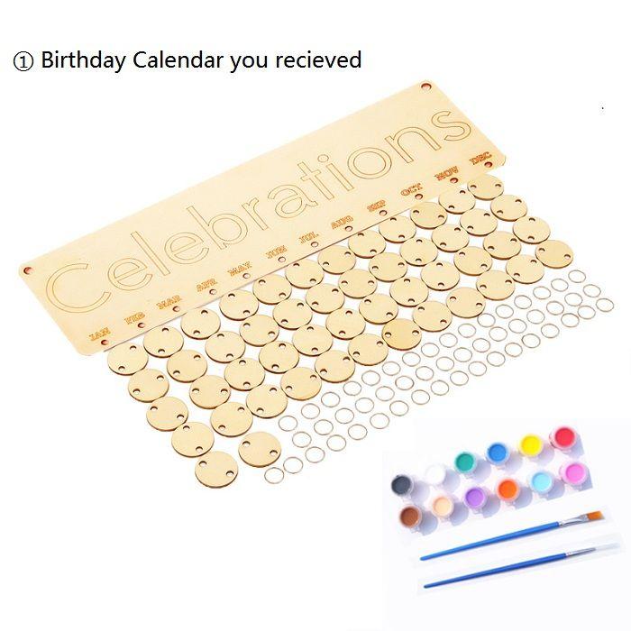 DIY Colorful Wooden Celebrations Birthday Calendar Reminder Board